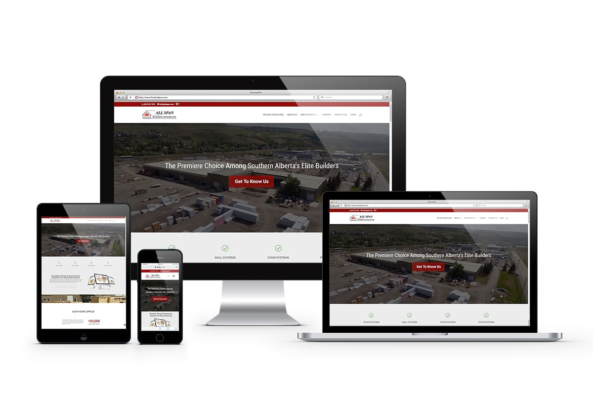 Synergist Media - All Span Building Systems - Website Displayed on Multiple Devices