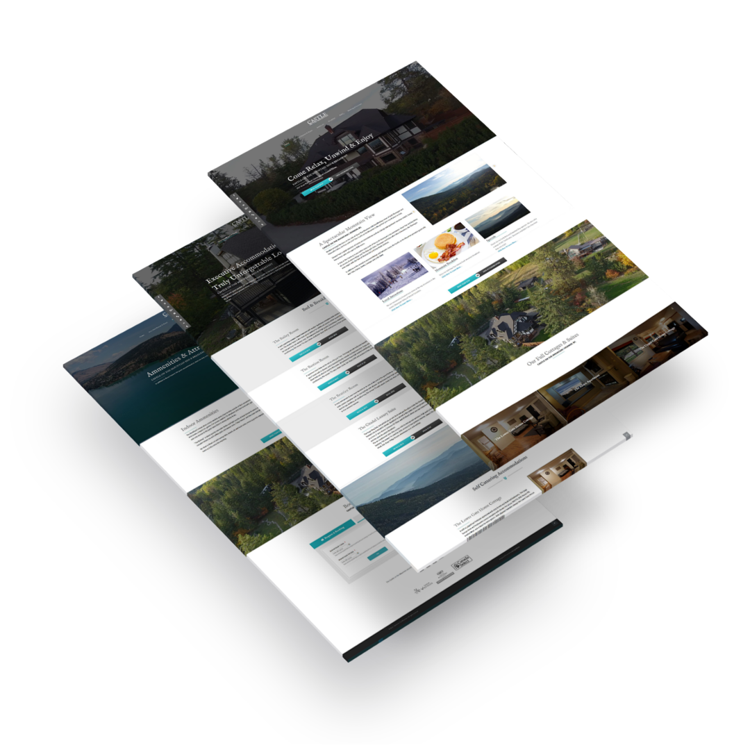 Synergist Media - Jay Woodford - Site Mock Ups - Castle On The Mountain